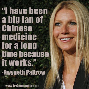 gwyneth paltrow acupuncture