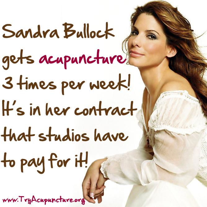Sandra bullock acupuncture
