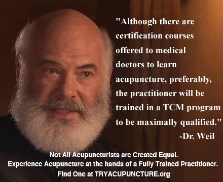 dr. weil on acupuncture